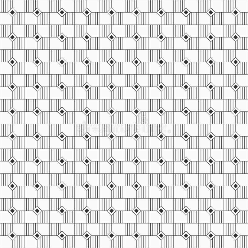Modèle géométrique sans couture des places et des losanges rayés illustration libre de droits