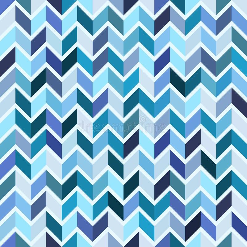Modèle géométrique sans couture, mosaïque bleue illustration de vecteur