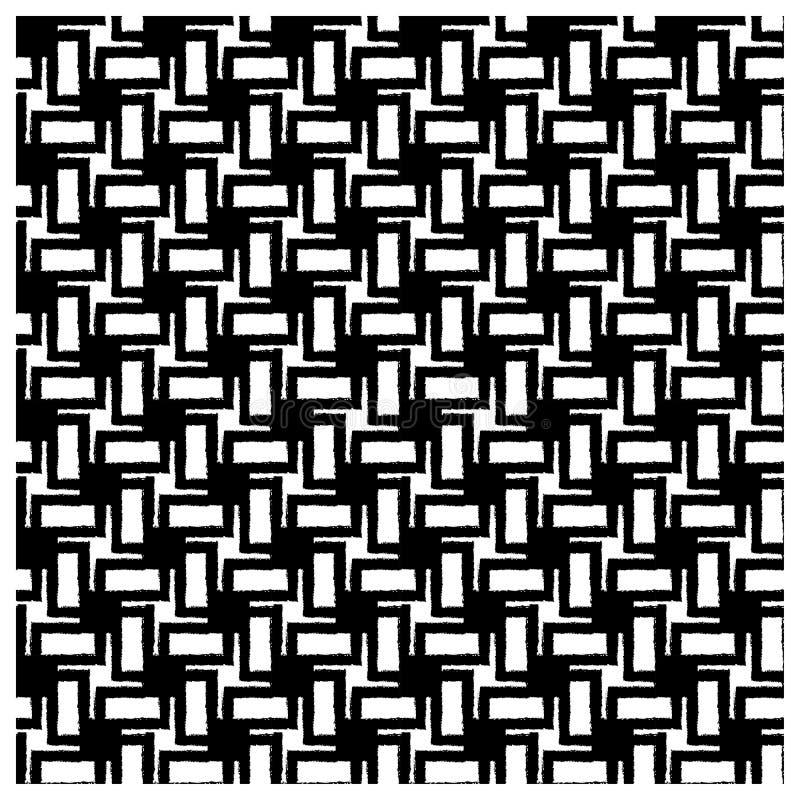 Modèle géométrique sans couture noir avec l'effet grunge illustration libre de droits