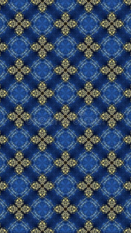 Modèle géométrique sans couture oriental lignes modèle d'impression de modèle floral sans couture de grille et de conception grap illustration libre de droits