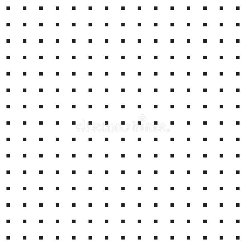 Modèle géométrique sans couture - petites places noires illustration stock