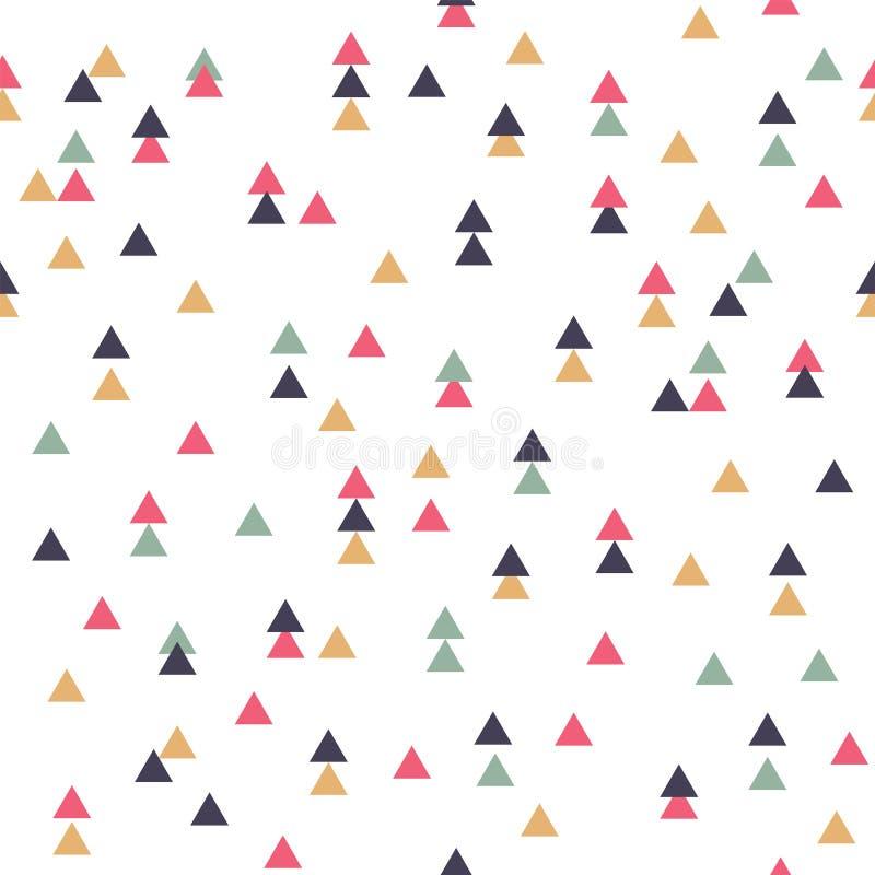 Modèle géométrique sans couture tribal de vecteur avec des triangles illustration de vecteur