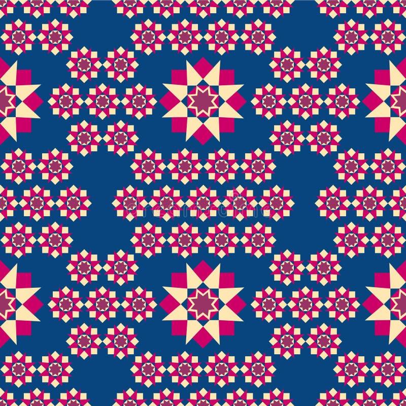 Modèle géométrique sur un fond bleu illustration libre de droits