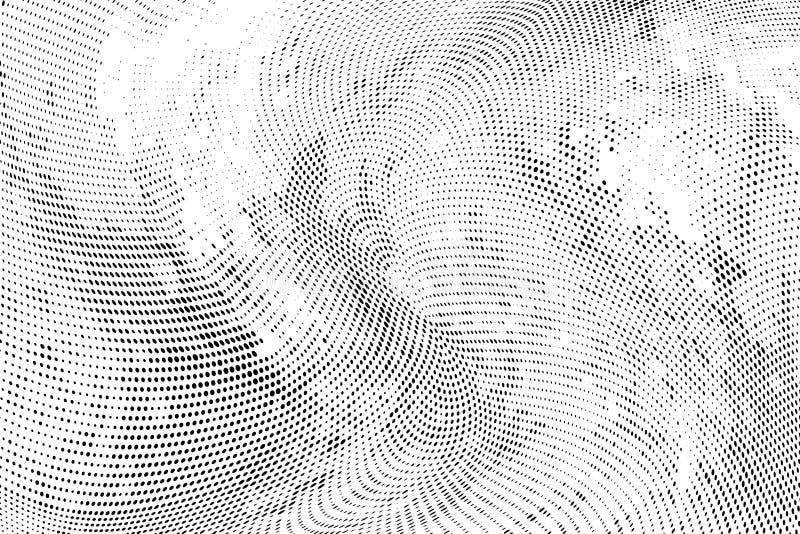 Modèle géométrique tramé monochrome de résumé Souille et éclabousse illustration de vecteur