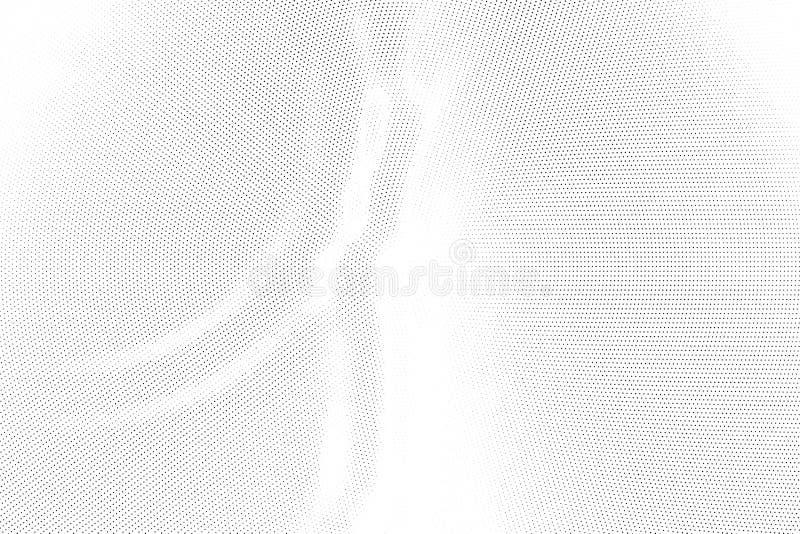 Modèle géométrique tramé monochrome de résumé Souille et éclabousse illustration stock