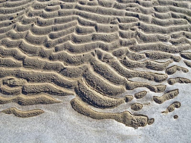 Modèle gelé de sable et de glace. image libre de droits