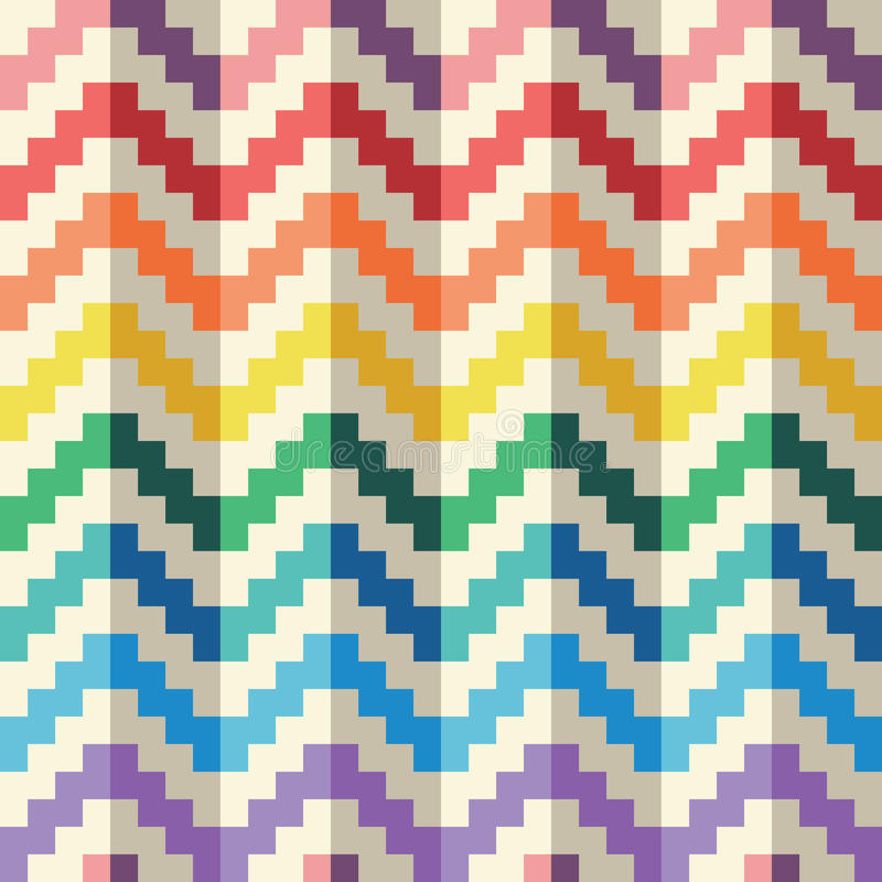 Modèle Geomatric Abstrait Sans Couture De Vecteur De Zigzag