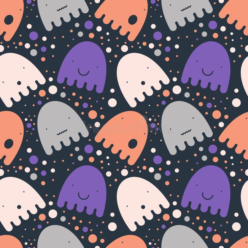 Modèle Ghost coloré illustration stock