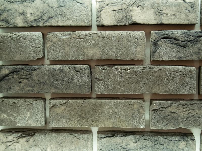 Modèle gris abstrait de mur de briques photographie stock