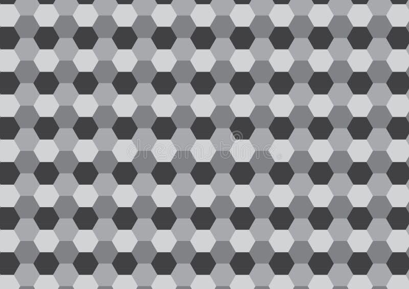 modèle gris de peigne de miel d'hexagone illustration stock