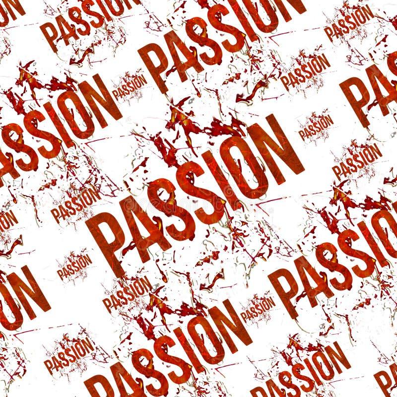 Modèle grunge typographique de conception de passion illustration de vecteur