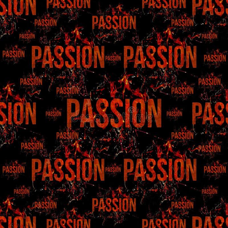 Modèle grunge typographique de conception de passion illustration libre de droits