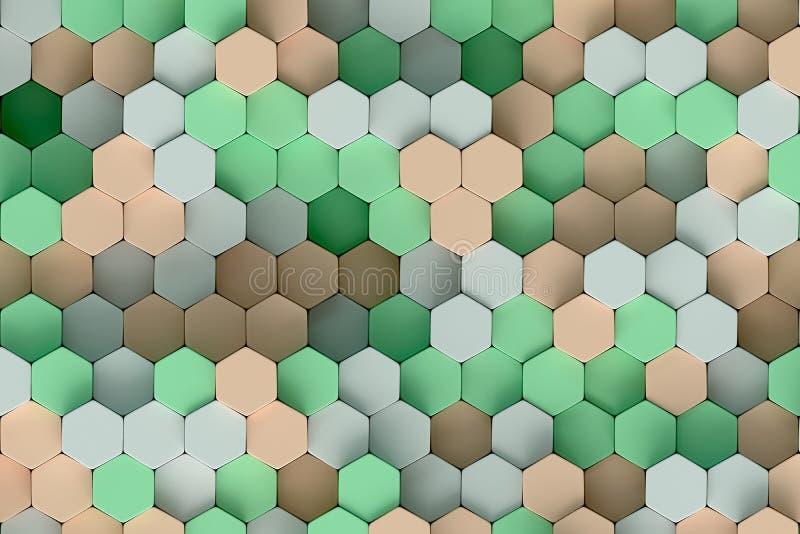 Modèle hexagonal illustration stock