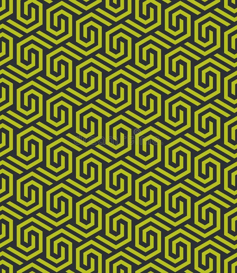 Modèle hexagonal géométrique abstrait sans couture - dirigez eps8 illustration libre de droits