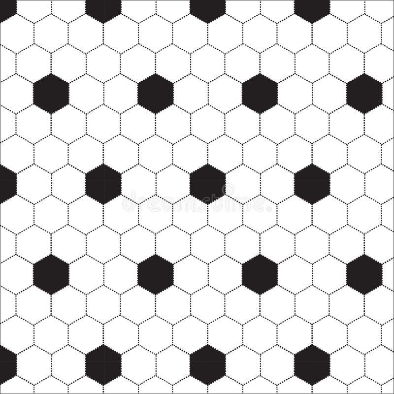 Modèle hexagonal noir et blanc illustration de vecteur