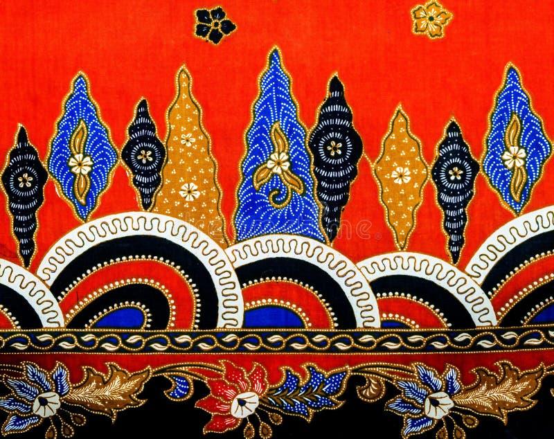 Modèle II de batik de la Malaisie images libres de droits
