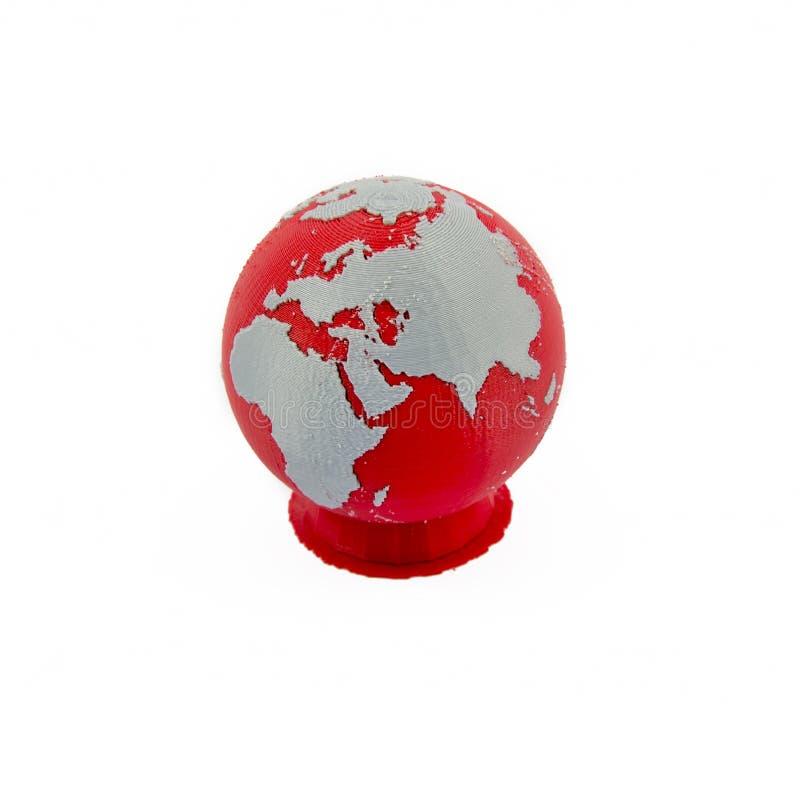 Of modèle imprimé par 3D un globe du monde image stock