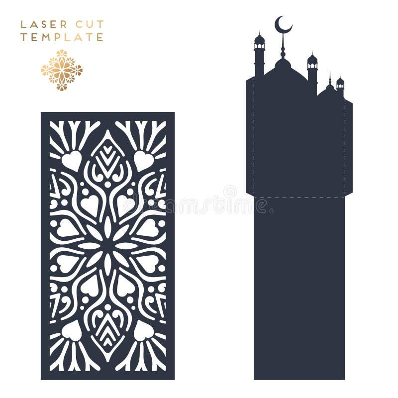 Modèle islamique coupé par laser illustration libre de droits