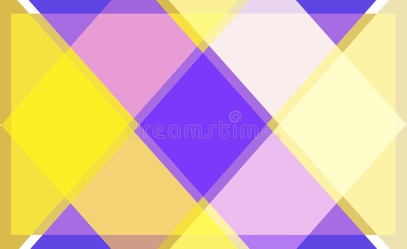 Modèle jaune couleur de fond géométrique d'abrégé sur illustration stock