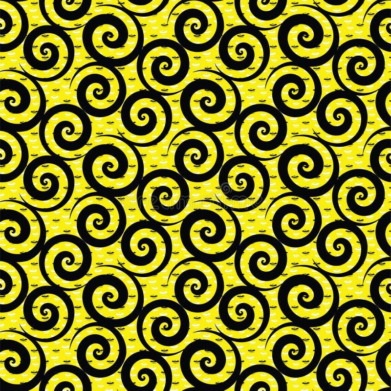 Modèle jaune de fond de textile floral abstrait illustration stock
