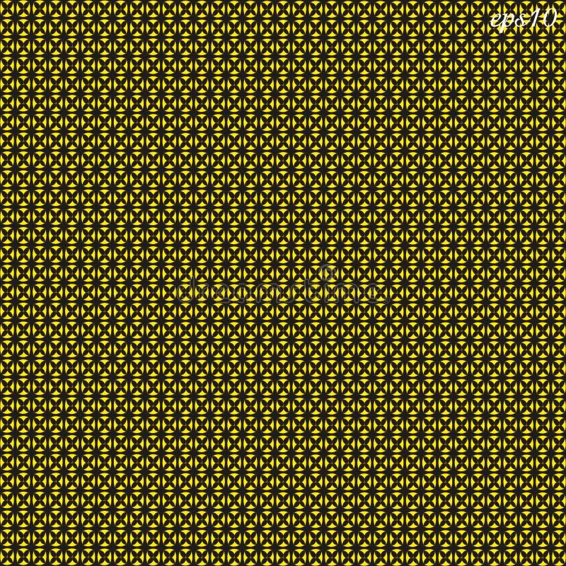 Modèle jaune noir de texture illustration stock