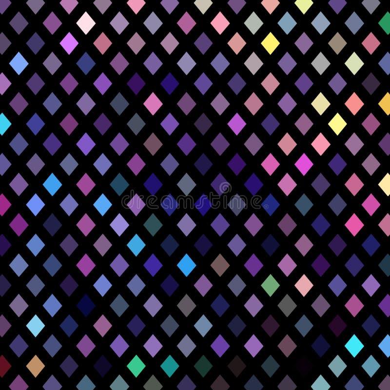 Modèle jaune rose bleu pourpre de gradient de formes géométriques Fond olographe de fête de mosaïque illustration libre de droits