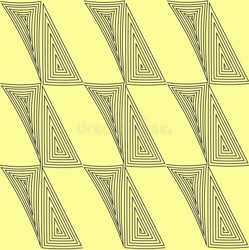 modèle le positionnement sans joint Textures graphiques géométriques jaunes et ligne noire Lumière du vecteur art illustration de vecteur