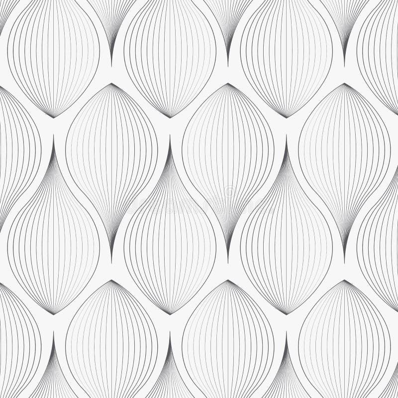 Modèle linéaire de vecteur, répétant les feuilles abstraites linéaires sur la guirlande illustration libre de droits