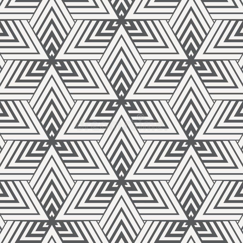 Modèle linéaire de vecteur texture élégante moderne En répétant les tuiles géométriques des éléments rayés sur la ligne de triang illustration libre de droits