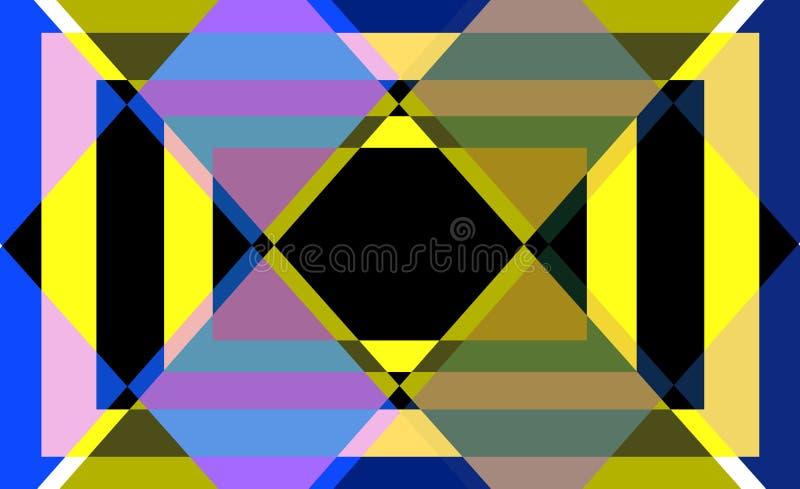 Modèle lumineux couleur de fond géométrique d'abrégé sur illustration libre de droits