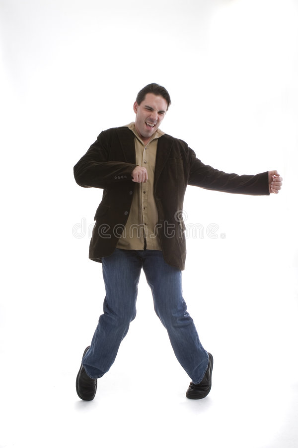 Modèle mâle dans des vêtements sport photographie stock