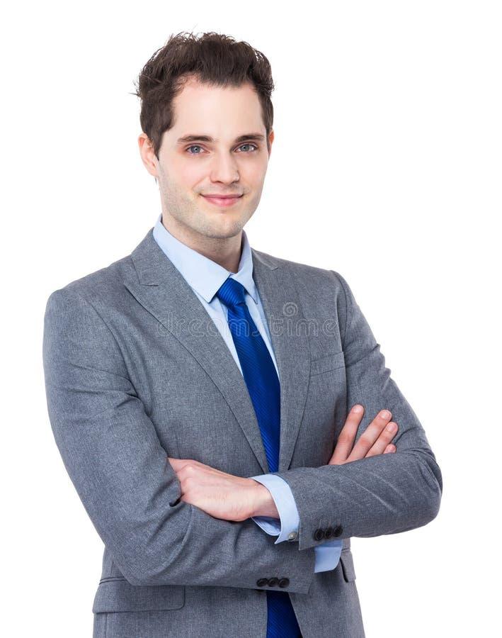 Modèle mâle dans le procès d'affaires image libre de droits