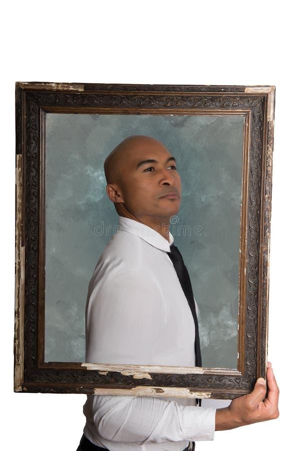 Modèle mâle dans le procès d'affaires photographie stock libre de droits
