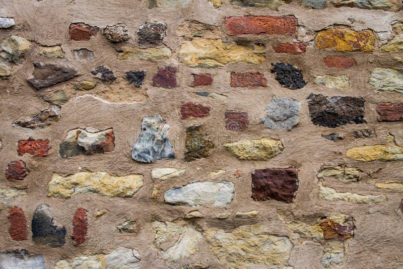 Modèle médiéval de fond de mur en pierre images stock