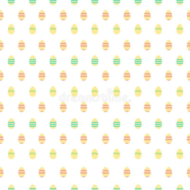 Modèle mignon avec des oeufs de décoration de Pâques illustration de vecteur