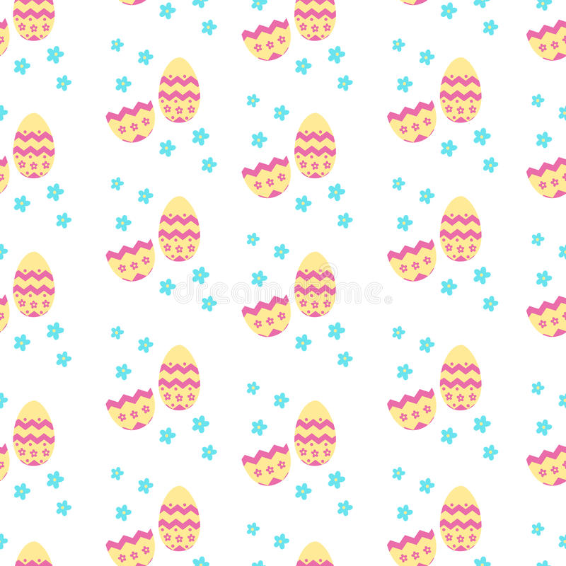Modèle mignon avec des oeufs de décoration de Pâques illustration libre de droits