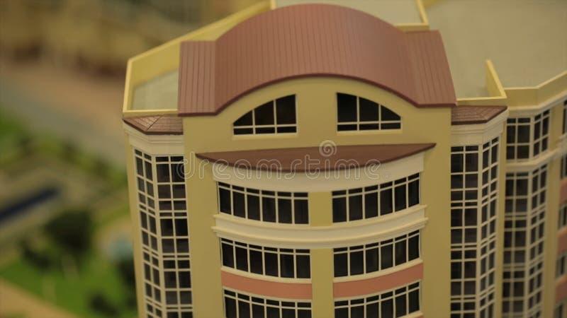 Modèle miniature, bâtiment miniature, ville Towns modèle Modèle miniature, bâtiments miniatures de jouet, voitures et les gens Vi image stock