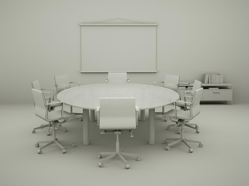 Modèle moderne de conception intérieure de salle de conférence illustration de vecteur