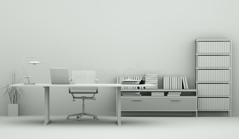 Modèle moderne de conception intérieure de siège social illustration libre de droits