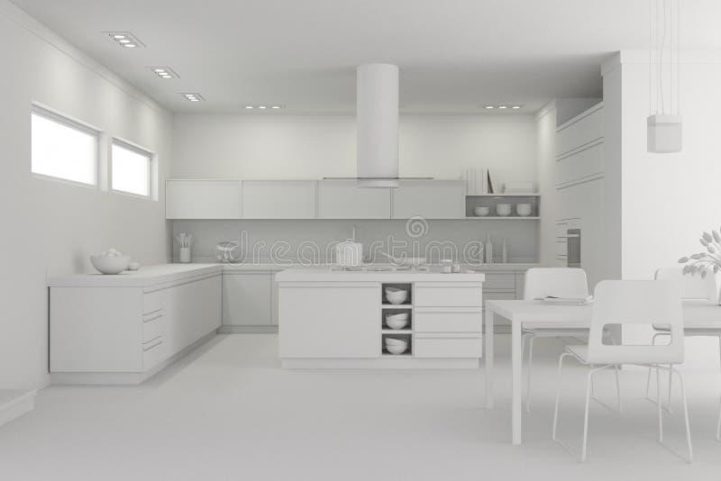Modèle moderne de cuisine de conception intérieure illustration libre de droits