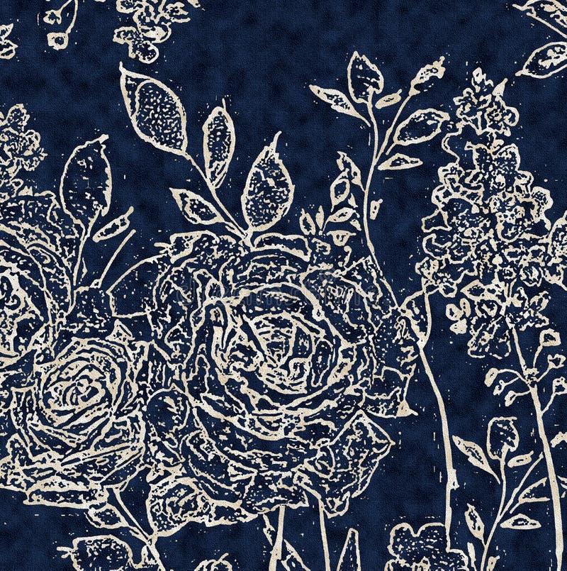Modèle moderne de répétition florale de texture illustration libre de droits