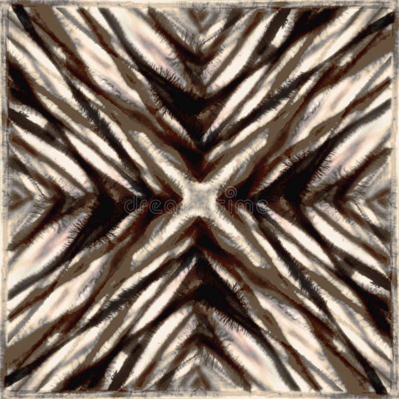 Modèle moderne de répétition de texture de batik de colorant de lien illustration de vecteur