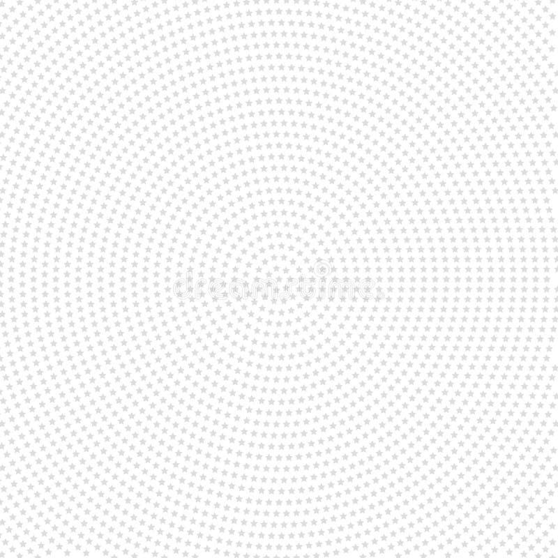 Modèle moderne sans couture de vecteur avec Grey Stars illustration stock