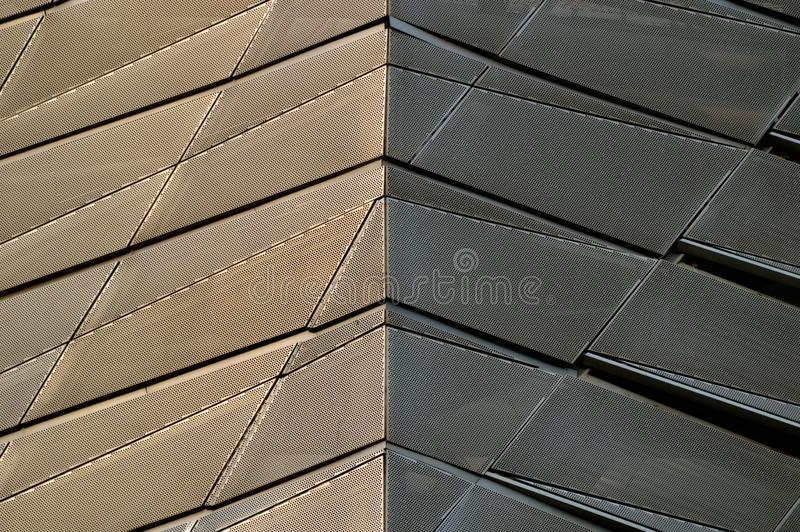 Modèle moderne triangulaire d'architecture photographie stock libre de droits