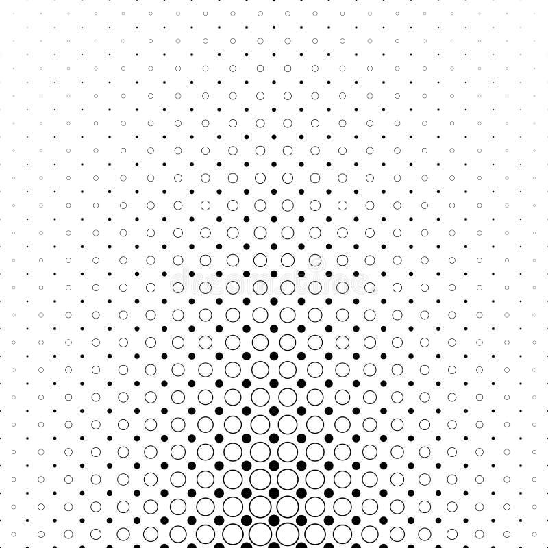 Modèle monochromatique de cercle - graphique géométrique de fond de vecteur des points et des cercles illustration libre de droits