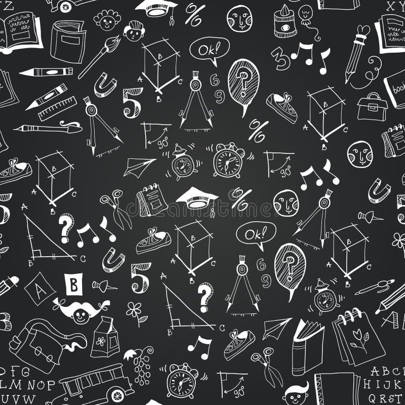 Modèle monochrome d'icône d'école de tableau illustration stock