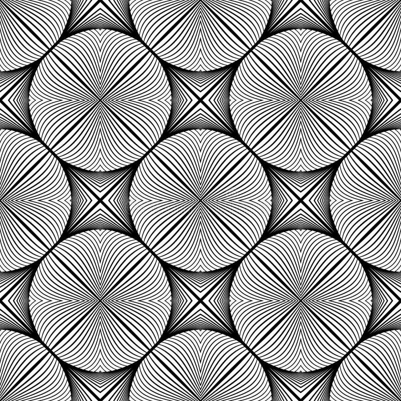 Modèle monochrome sans couture d'ellipse de conception illustration stock