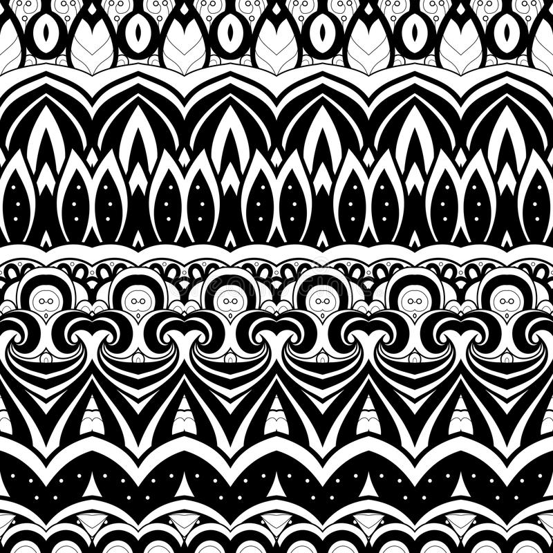 Download Modèle Monochrome Sans Couture De Damassé De Vecteur Illustration de Vecteur - Illustration du tissu, conception: 56479345