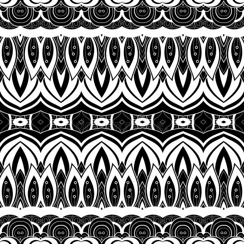 Download Modèle Monochrome Sans Couture De Damassé De Vecteur Illustration de Vecteur - Illustration du filigree, luxe: 56479768