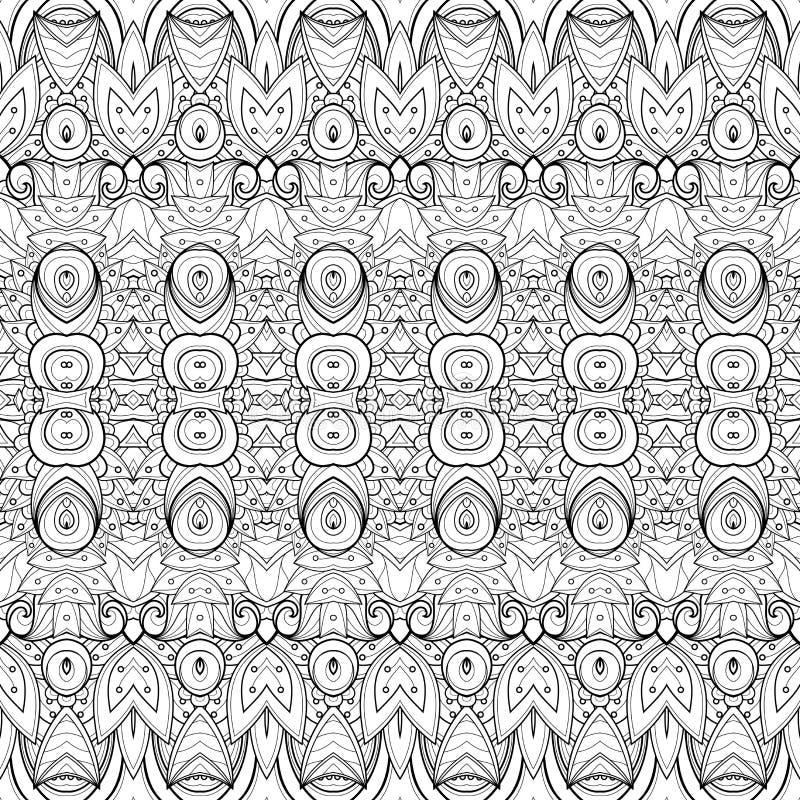 Download Modèle Monochrome Sans Couture De Damassé De Vecteur Illustration de Vecteur - Illustration du cirque, indien: 56481596